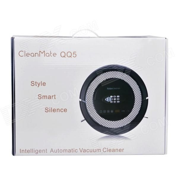 Cleanmate QQ5 Original Equipment Manufacture Robot Vacuum Cleaner - Black (EU…