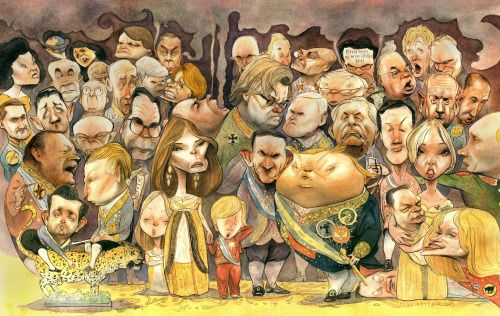 Trump and Friends Caricature Drawing Steve Brodner Canvas...