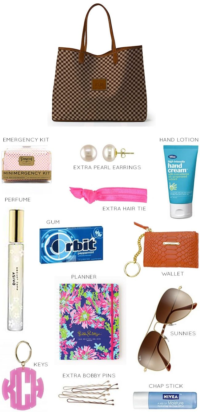 purse necessities - so true!
