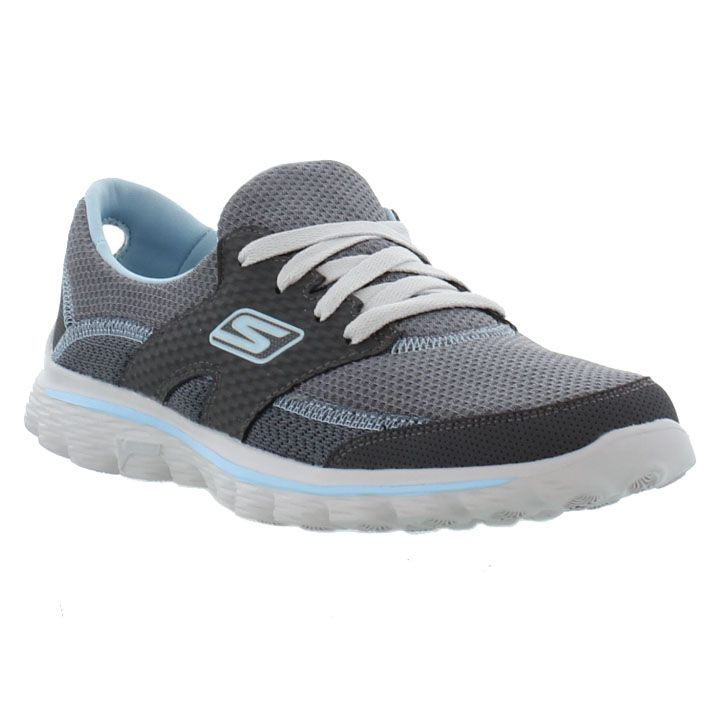 Skechers - Go Walk 2 Stance - Charcoal Blue - Womens