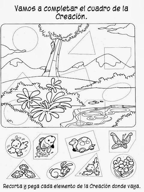 Colorea estos preciosos dibujos de la historia de Adán y Eva. También tienes actividades para realizar.                                     ...