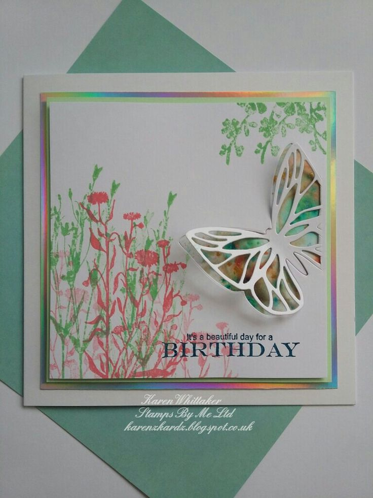Butterfly die and Wildflower stamps by Stamps By Me  #stampsbyme #dtsample #butterfly #die #wildflower #stamps #distressinks #distressoxides #flowers #cards #craft #creative #ilovetocraft #creativity #karenzkardz