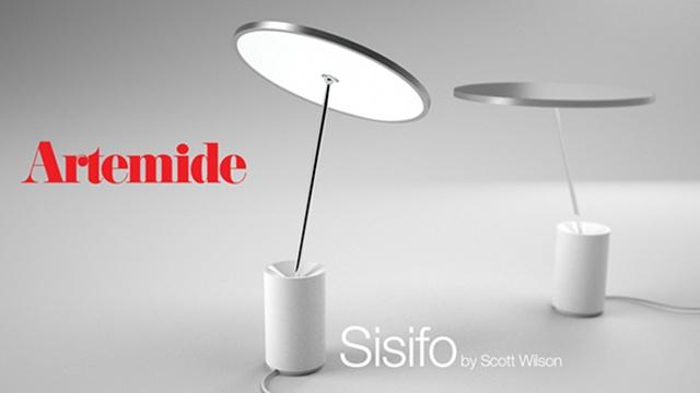 Sisifo by Scott Wilson for Artemide. A disk of light. Is it circular LED strips inside?
