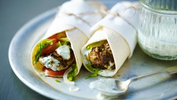 These wraps are the perfect grab-and-go meal. You can also use seasoned yoghurt and some fresh chopped coriander and mint instead of the chutney. Recipe by Anjum Anand
