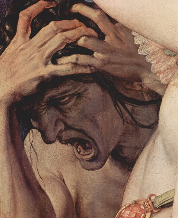 ''Allegory of the Triumph of Venus'' by Agnolo Bronzino.  Oil on panel .. 1540 - 1545