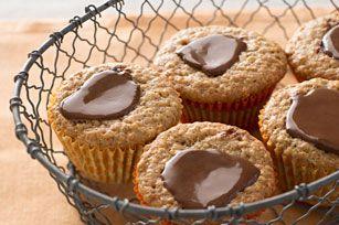 Muffins à l'avoine, au chocolat et au beurre d'arachide