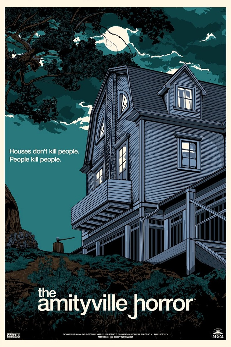 The Amityville Horror (1979) Newlyweds move into a large house where a mass murder was committed, and experience strange manifestations which drive them away.