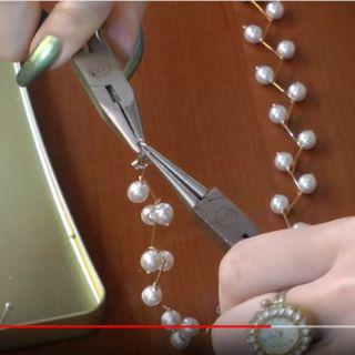 Esküvői gyöngy-nyaklánc