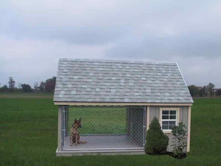 DOG RUN OUTDOOR KENNEL K9 HOUSE AMISH PA DUTCH CUSTOM HANDMADE SHED LANCASTER #Amish
