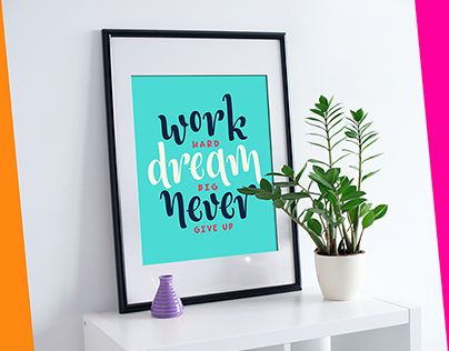 """Check out new work on my @Behance portfolio: """"Work hard, dream big & never give up."""" http://be.net/gallery/57790959/Work-hard-dream-big-never-give-up"""