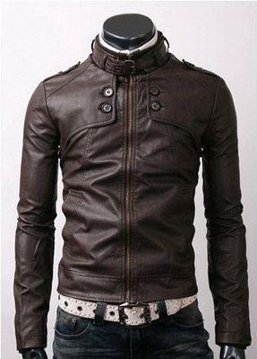 handmade Men Dark brown color Leather Jacket men by ukmerchant
