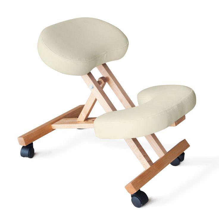 Sedia legno ortopedica sgabello svedese ufficio ergonomica for Sedia ergonomica