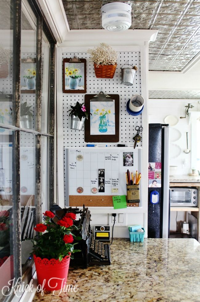 780 best images about organize me on pinterest garage for Kitchen pegboard ideas