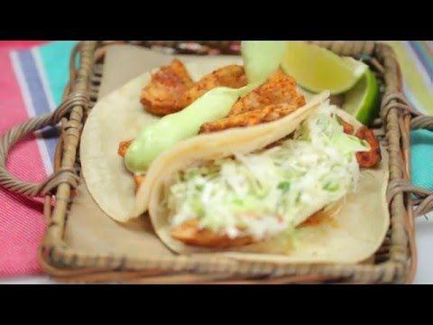 Ancho Chicken Tacos with Cilantro Slaw and Avocado Cream   Cooking ...