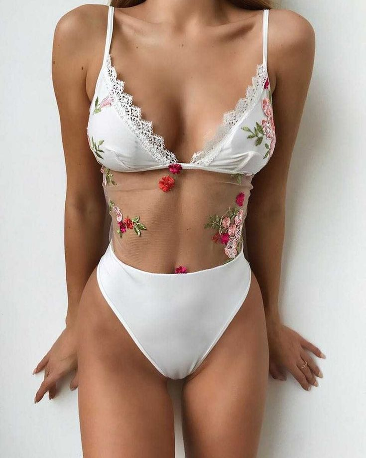 Get 15% Off on each 2 items USE CODE : 2BIKINIS, one piece swimsuit low back lace mesh white monokini floral embroidered swimsuits one piece with lace stomach