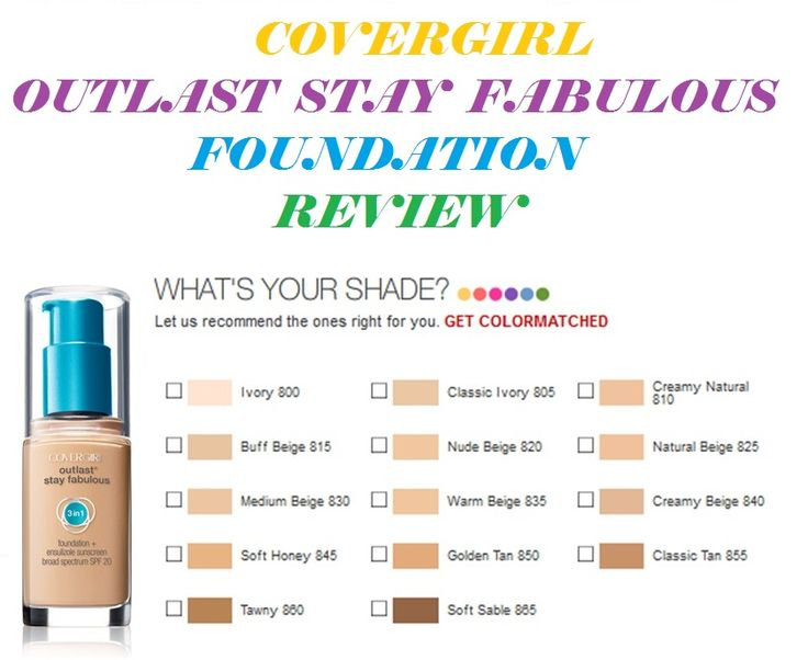 ~ ALL Things GIRLY~ ourloveforfashion: CoverGirl Queen Foundation & Outlast Stay Fabulous Foundation REVIEW