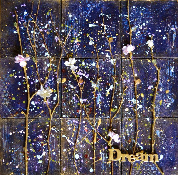 Dream. Mixed media canvas