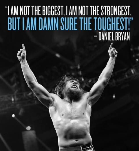 Daniel Bryan, one tough cookie...