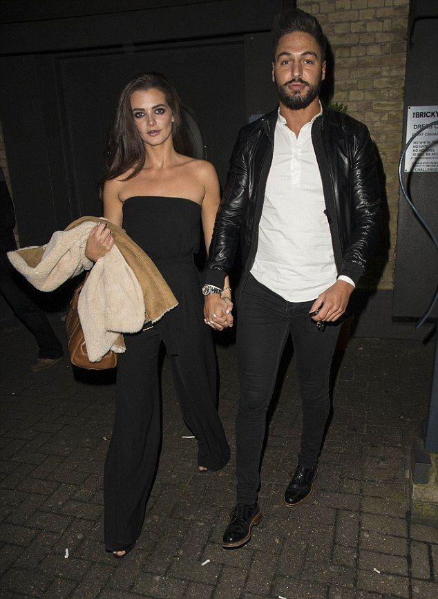 New romance: The pair were among the TOWIE cast shooting scenes at the Brickyard bar in Ro...