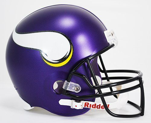 NFL Minnesota Vikings Deluxe Replica Helmet by Riddell. NFL Minnesota Vikings Deluxe Replica Helmet.