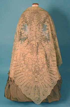 Someday i hope to have the time and patience to knit a huge lace shawl. handmade lace shawl c 1860 Whitaker Auction oct 24, 2004