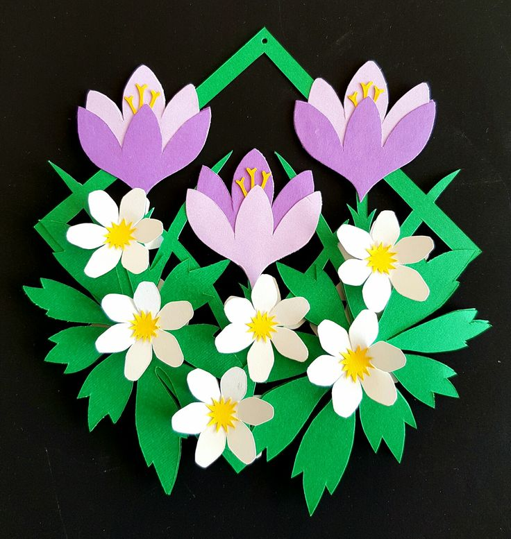 "Paperflowers from my book ""Blomsterklip"""