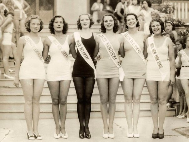Miss America Pageant ♥ 1935 ~ probably not girlfriends but who knows they may have made friends