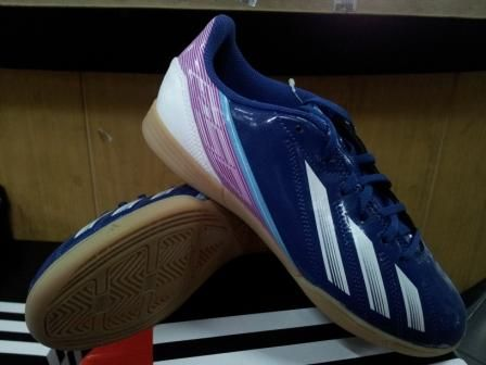 Sepatu Futsal Anak Adidas F5 Micoach New Adizero Blue Pink
