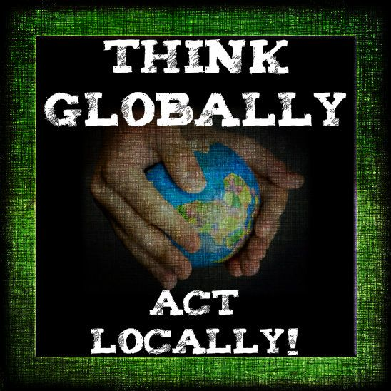 image Think globally kiss locally