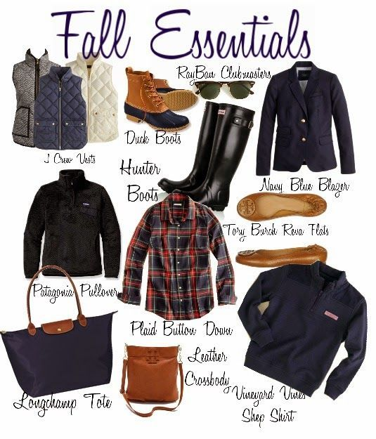 Fall most haves- funny I have most of these