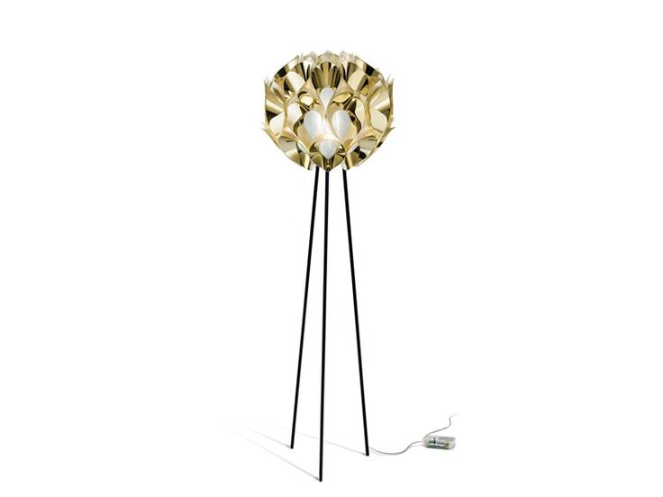 Indirect Light Goldflex® Table Lamp FLORA FLOOR GOLD By Slamp Design Zanini  De Zanine