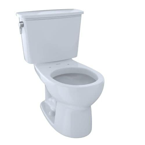 Toto CST743EN Eco Drake 1.28 GPF Two Piece Round Toilet - Less Seat (Colonial White)