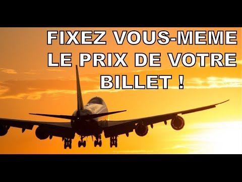 Un billet d'avion moins cher ? Fixez vous-même votre prix !