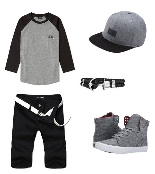 """""""androgynous"""" by anissa-c on Polyvore featuring Stussy, Supra, Vans and Paul Hewitt"""