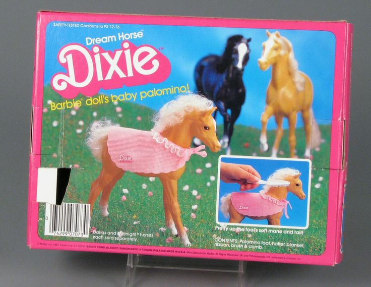 Dream Horse Dixie, Barbie Doll's Baby Palomino    play set    ca. 1984