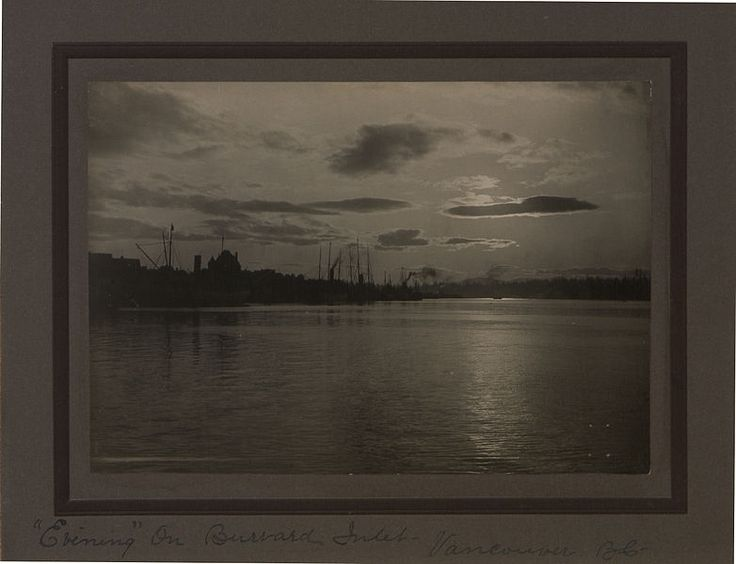 Evenings on Burrard Inlet, Vancouver, British Columbia. Photographer: Robert M. Love 1907