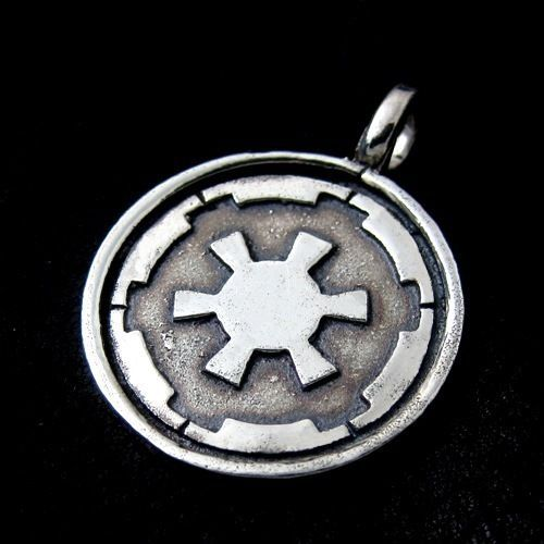 Silver Galactic Empire pendant. Star Wars. Science Fiction. Darth Vader. #Pendant