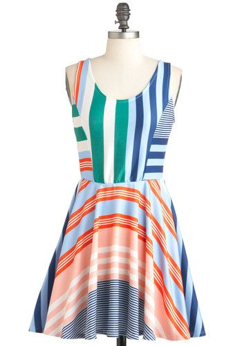 Sailing Weather Dress, #ModCloth