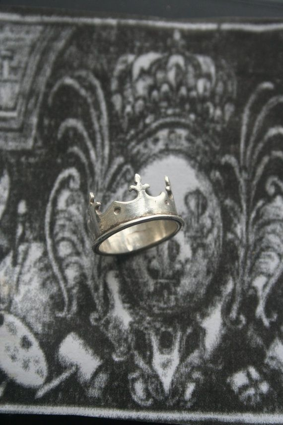 Crown ring Medieval ring Gothic jewelry Gothic silver