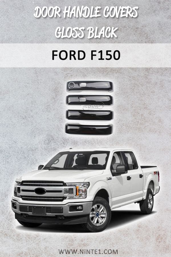 Door Handle Covers With Smart Holes For Ford F150 Gloss Black In 2020 Ford F150 Door Handles Custom Cars