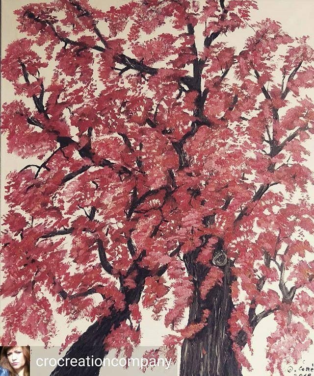 Dijana Covic Crocreationcompany Sold More Frog Perspective Sakura Blossom Acrylic Ink Canvas Tree Art Art Hub Tree Painting