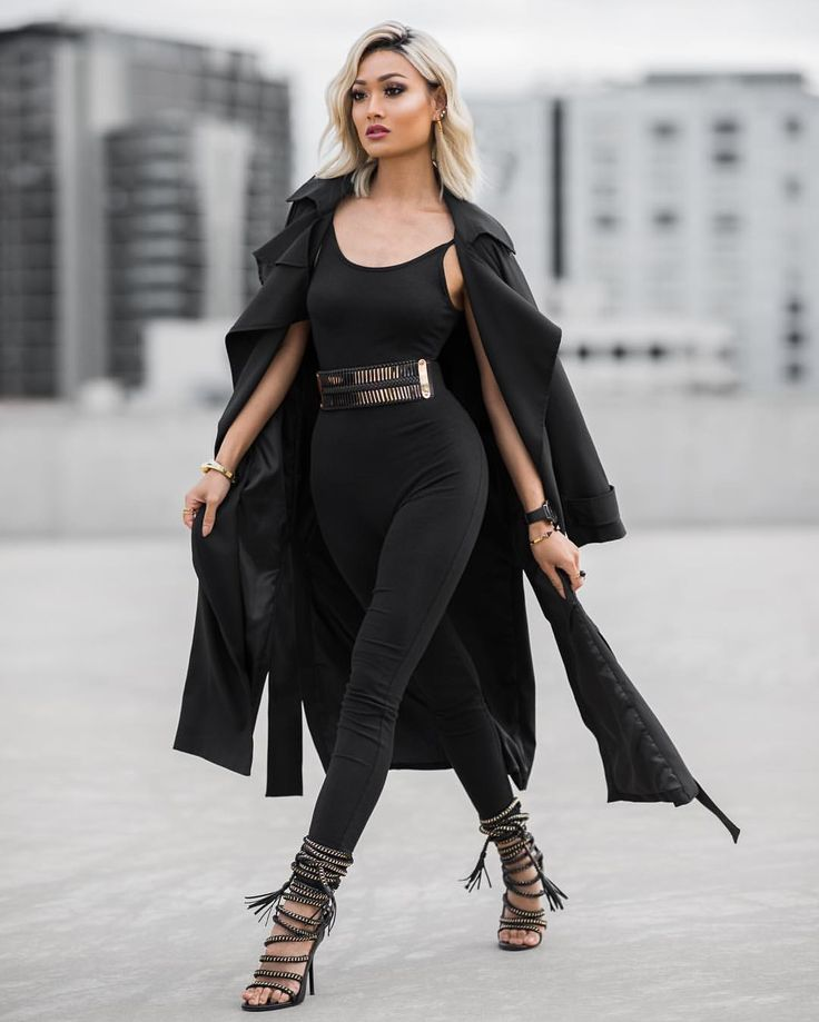 Black x gold ✨♠️✨ Bodysuit & coat from @windsorstore