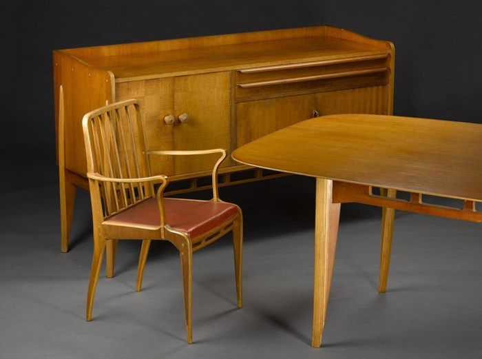 Allegro dining suite, designed by Basil Spence for H. Morris & Co, Glasgow, 1949.