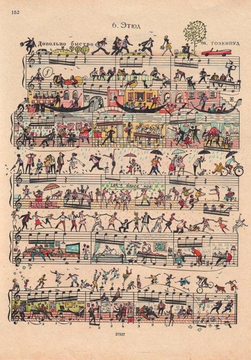 Musical score turned art