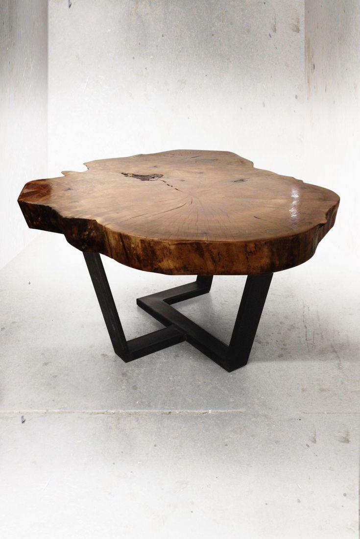 Organic By Design Couchtisch. Live-Edge-Möbel, Skulpturen und Archit