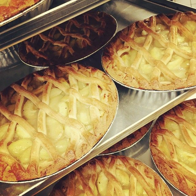 Apple Pasta Flora is similar to an apple tart with a cookie like crust #greekdessert #fresh #foodie #GreekBakery #Toronto #bakery