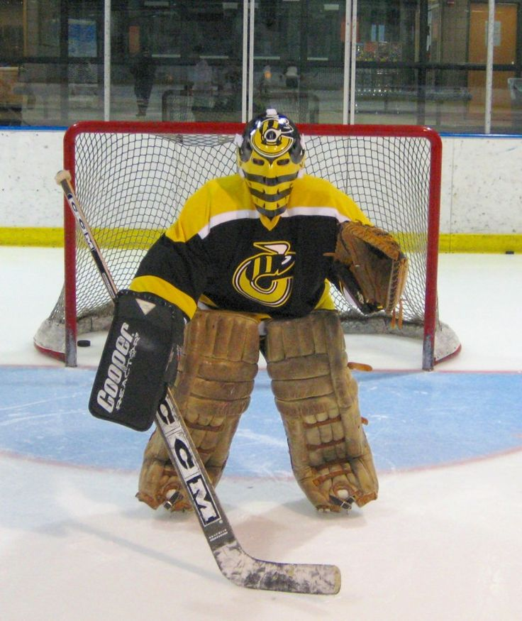 Mike Liut's old bumblebee mask from his days with the Cincinnati Stingers (h/t UniWatch)
