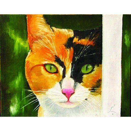 "Calico Cat   ""A Visitor (Shasta)""   Robbie Bell Artwork Listings   Charleston Art Shop - Love furry friends!"
