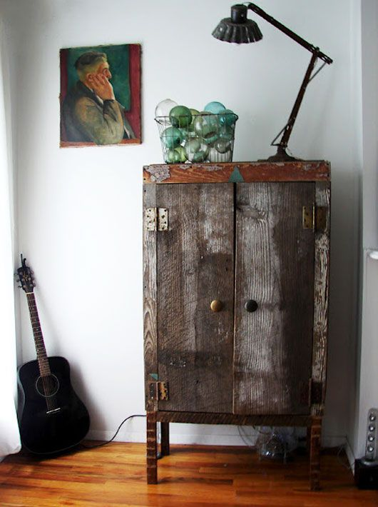 unexpected guests: ariele alasko. / sfgirlbybay - looove this cabinet Ariele Alasko built using a hand saw and a drill. So talented and inspiring.