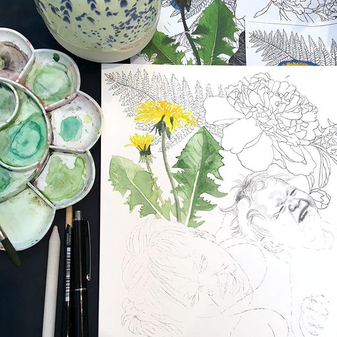 Line Holtegaard laver personlig kunst. @drawingthelines www.lineholtegaard.dk